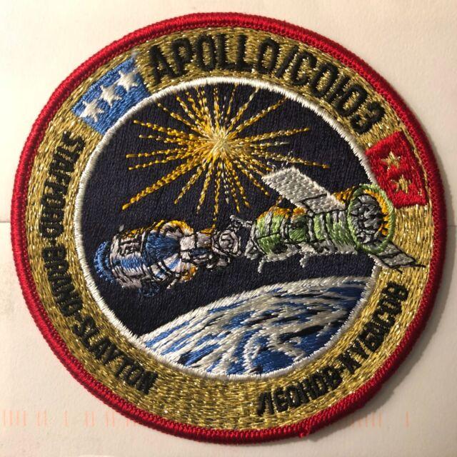 "Vintage NASA AB Emblem Apollo Soyuz Crew Patch 4"""