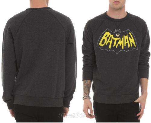 NEW DC Comics Batman Classic Logo Crewneck Sweater Sweatshirt Pullover Top M-L