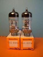 2 x ECC801S PAIR TUBE SIEMENS NOS TESTED TV7 EQ.MULLARD CV4024 E81CC 12AT7 ECC81