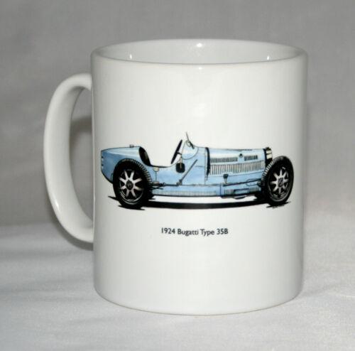 Classic Car Mug Bugatti Type 35B hand drawn illustration.