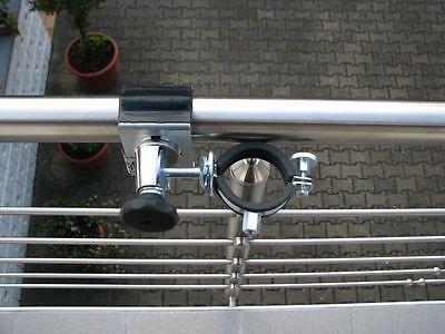 55 cm MULTI-Halterung 360° EDELSTAHLSCHELLEN STÖCKE BIS 38 mm Ø STABIELO