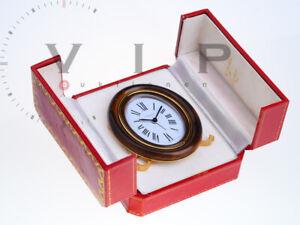 CARTIER-PENDULETTE-UHR-PULTUHR-WECKER-TISCHUHR-REISEWECKER-DESK-TABLE-CLOCK-RARE