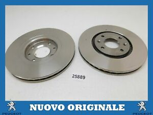 Pair Front Brake Discs Pair Of Original PEUGEOT