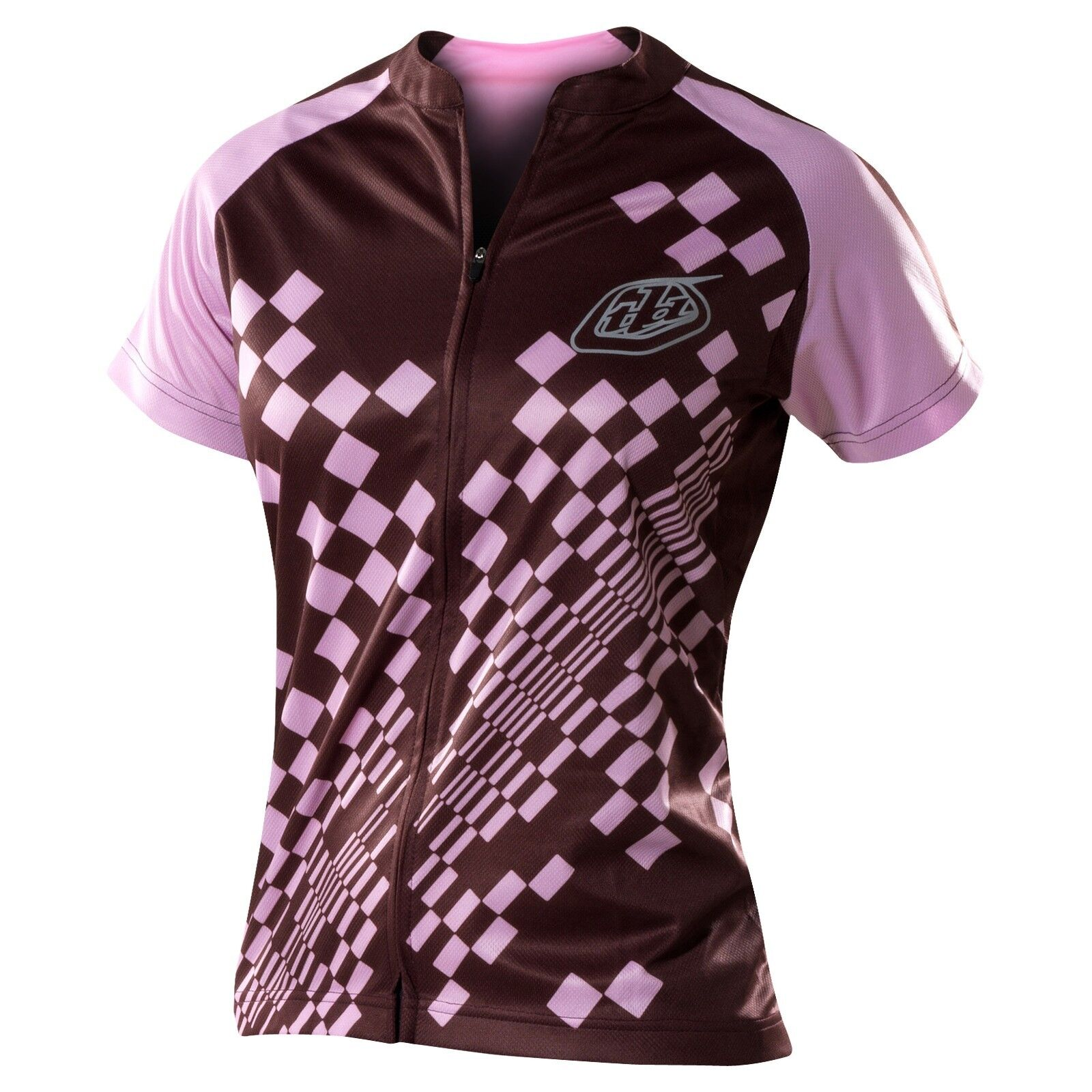 Troy Lee Designs Women's Bicycle Cycling Ace Jersey Pink Brown Medium MD