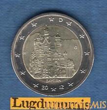 2 euro Commémo - Allemagne 2012 Chatreau Neuschwanstein G Karlsruhe Germany