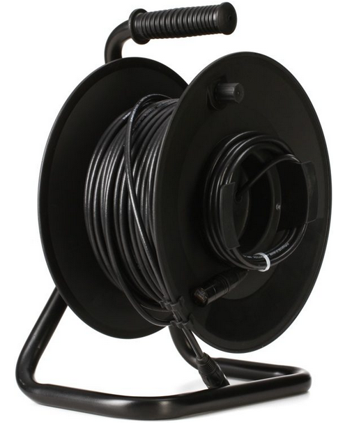 Pro Co Durashield-100NBNB-R CAT 6a 100' Digital Snake on reel, STP connectors