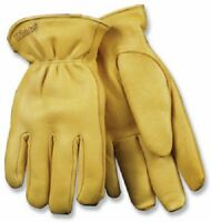 (6) Pair Deerskin Leather Gloves Size: Extra Large - Thermal Lined - 90hk Xl