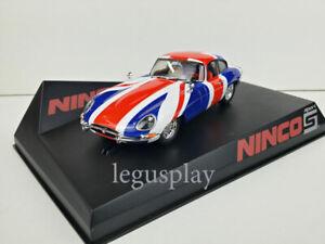 Slot-car-Scalextric-Ninco-50620-Jaguar-E-Coupe-Union-Jack