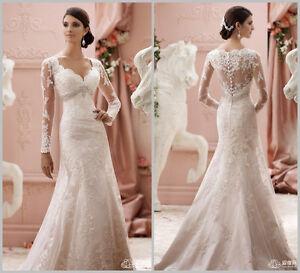 Brautkleider mit spitze und langen armeln