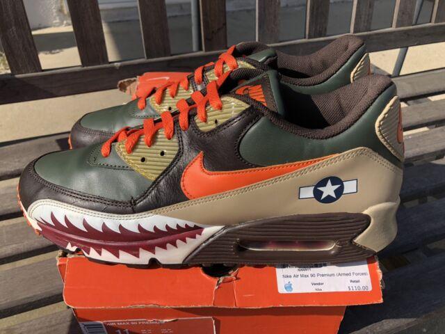 Details about Nike Air Max 90 Premium Warhawk Armed Forces Patta Atmos Bape 315728 381