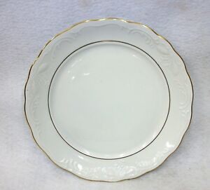 Gibson-Golden-Legacy-China-White-Scalloped-Gold-Trimmed-Salad-Bread-Plate