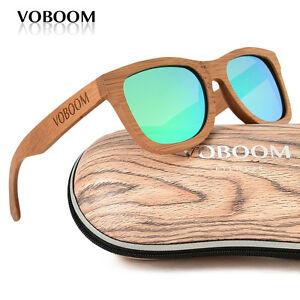 hommes-femmes-bambou-polarise-lunettes-de-soleil-Carbonise-bois-lunettes