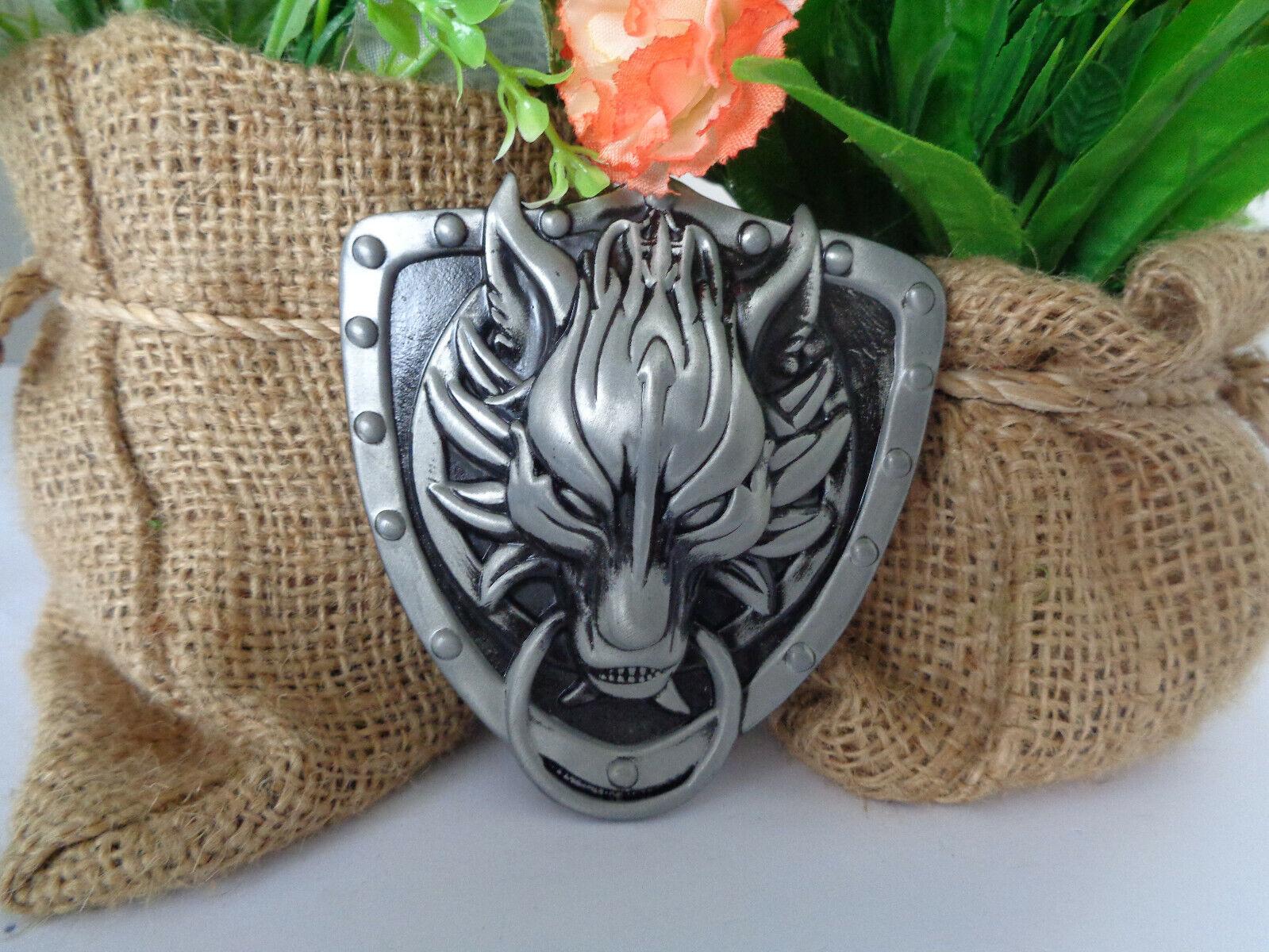 Fantasy Wolf Belt Buckle Game of Thrones Dire Wolf Buckle