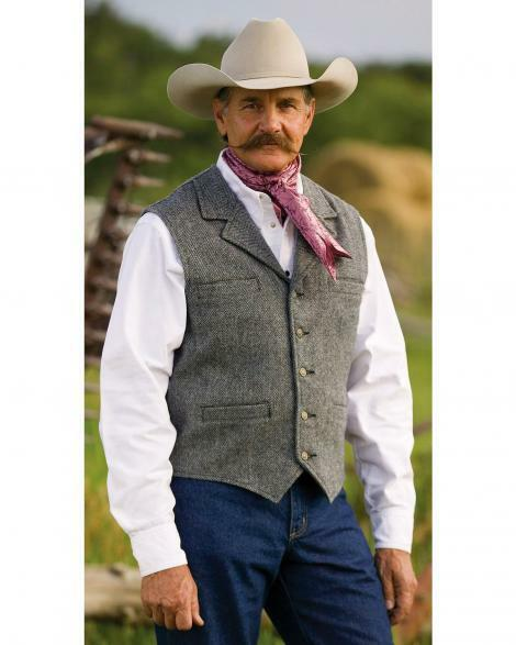 SCHAEFER OUTFITTERS RANCHWEAR McClure VEST MADE IN TEXAS - USA