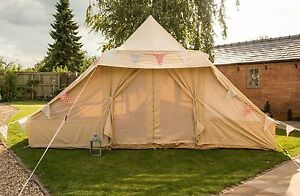 Image is loading 5m-x-4m-Touareg-Roman-Bell-Tent-100- & 5m x 4m Touareg / Roman Bell Tent 100% Canvas with ZIG by Bell ...