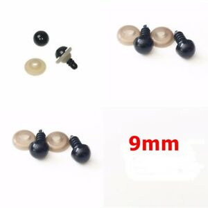 5-Pairs-Round-Black-Plastic-Safety-Eyes-Dolls-Teddy-Bears-10-Eyes-amp-Washers-9mm