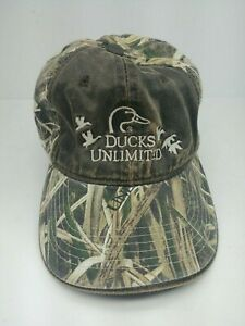 Ducks Unlimited Embroidered Duck Logo Hat Cap Brown ...