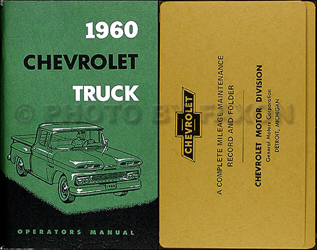 1960 Chevy Truck Owners Manual With Envelope 60 Chevrolet Pickup Suburban Panel For Sale Online Ebay