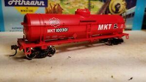 HO-Athearn-MKT-Katy-40-039-tank-car-new-rtr-series-metal-wheels-red