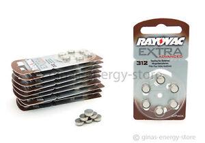 60-Rayovac-Extra-Advanced-AU-312-Hoergeraete-Batterien-Hoergeraet-Batterie-Typ-312