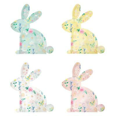 Meri Meri 12 Wildflower Bunny Party Plates Easter Flowers Pastel Rabbit Birthday