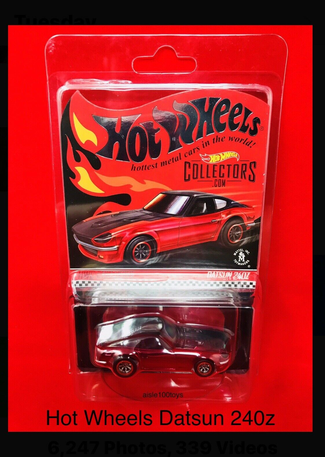 2018 Hot Wheels Datsun 240z RLC Exclusive In rosso Limited 6500 50th Anniversary