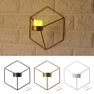 3D-Geometric-Candlestick-Metal-Wall-Candle-Holder-Sconce-Nordic-Style-Home-Decor