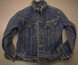 Vintage-Lee-Riders-denim-101-style-denim-jacket-Youth-size