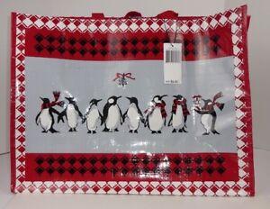 fefaea7385 Vera Bradley MARKET TOTE BAG PLAYFUL PENGUINS RED Reusable Gift Wrap ...