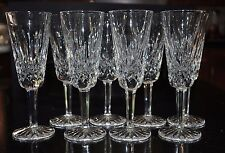 """Set 8 WATERFORD LISMORE Champagne Flute 7.25"""" Clear Crystal PERFECT CONDITION"""