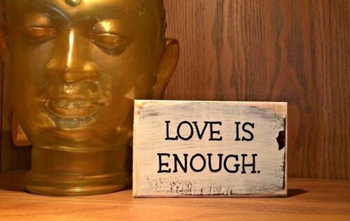 desk sign handmade love is enough rustic wood sign farmhouse style home decor