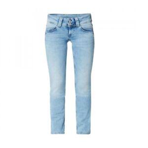 Details zu Details zu Pepe Jeans Damen Jeans Venus Jeanshose Blau Low Waist Hose Hellblau Hellblau