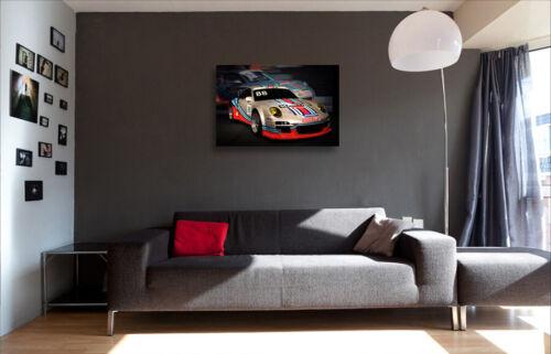 Sebastien Loeb Porsche Supercup GT Printed Box Canvas Picture Multiple Sizes