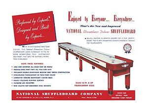 Restored Vintage National Table Shuffleboard League