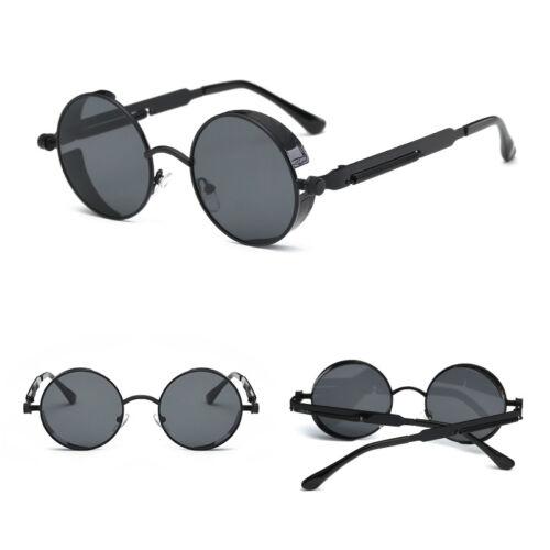 Vintage Retro Steampunk Sunglasses Inspired Gothic Metal Round Eyewear Glasses U