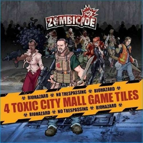 Zombicide  4 Toxic New City Mall Game Tiles expansion New Toxic 3ac18b