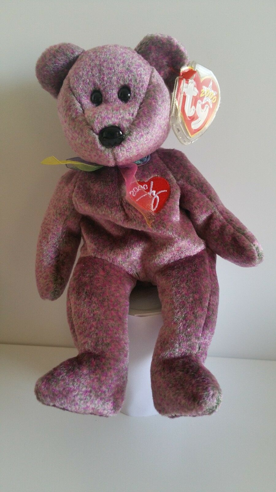 Signature 2000 Bear  Ty Beanie Baby - Rare Retired BB Bear 04 Sign 00