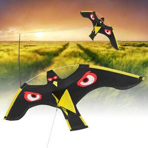 Details About Flying Hawk Kite Drive Bird Scarer For Garden Scarecrow Yard House Yollow Black