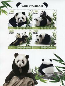 Madagascar-2019-MNH-Giant-Panda-4v-M-S-Mammals-Wild-Animals-Pandas-Stamps