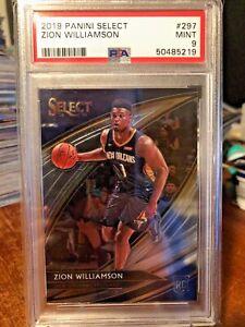 2019-20 Panini Select Courtside #297 Zion Williamson Pelicans RC Rookie PSA 9!