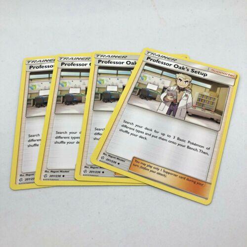 Pokemon Cards Professor Oak/'s Setup 201//236 x4 Playset Cosmic Eclipse