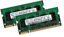 2x 1GB 2GB Samsung DDR2 SO DIMM 667 Mhz PC2-5300S Notebook Speicher  RAM Laptop