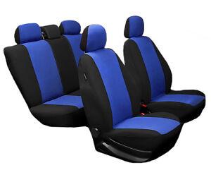 Schwarz-blaue Velours Sitzbezüge für AUDI A2 Autositzbezug VORNE