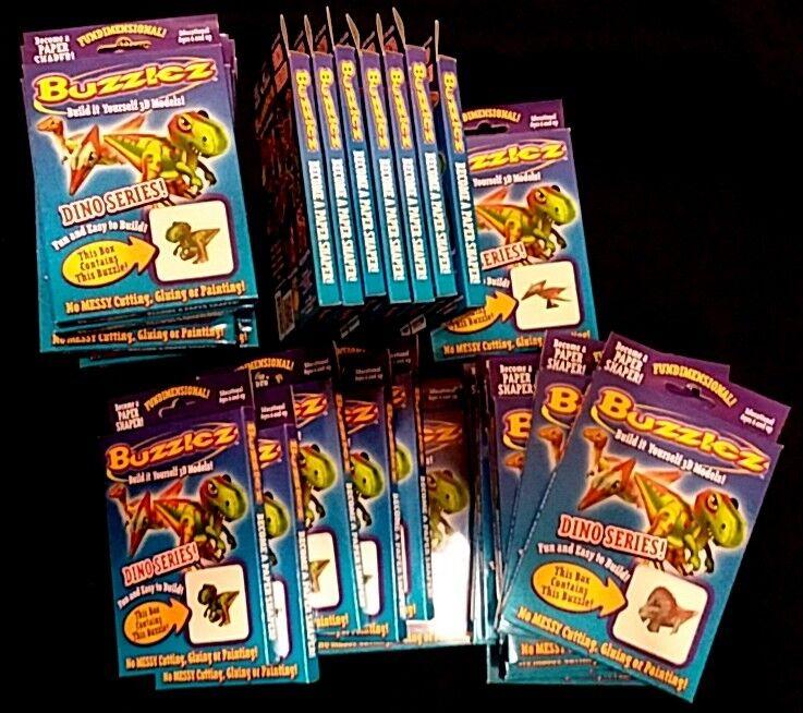 Lot of 33 Buzzlez Buzzles Build It Models Yourself 3D Paper Models It Dinosaurs 3 Designs 136972