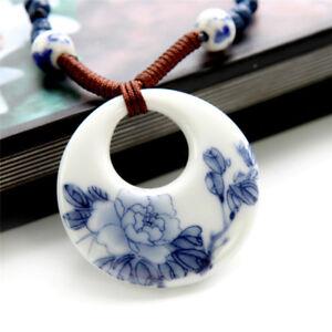 Keramik-lange-haengende-handgemachte-ethnische-Halskette-Vintage-Frauen-SchmuckHJ