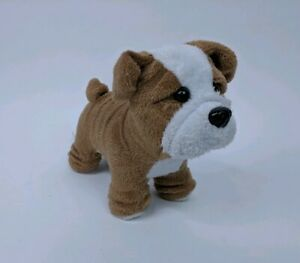"""Details about American Girl Doll 5"""" Dog Meatloaf Tan & White English  Bulldog Puppy Retired"""