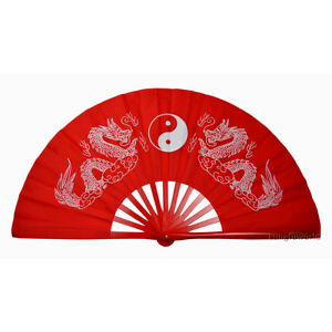 17effe18d Durable Bamboo Tai chi Fans Chinese Kung fu Martial arts Training ...