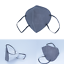 Indexbild 55 - ✅5 Stk FFP2 Maske Bunt Farbig 5-Lagig Atemschutz DEUTSCHER HÄNDLER ✅ TÜV ✅ CE ✅