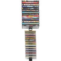 DVD CD Multimedia Storage Rack 4 Wall Mounts Stix 60 Media DVD Shelf Holder New