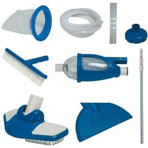 Details zu Intex Deluxe Cleaning Maintenance Swimming Pool Kit with Vacuum  & Pole 28003E